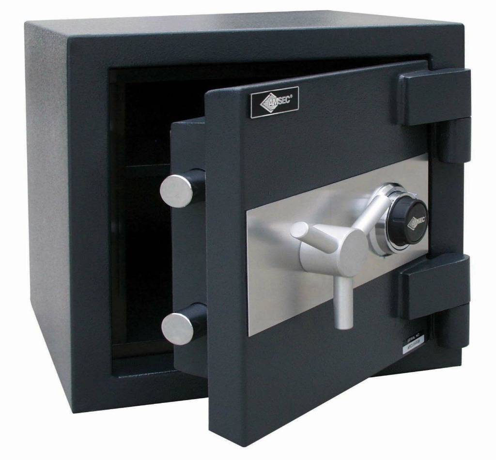 Amsec safe with door open