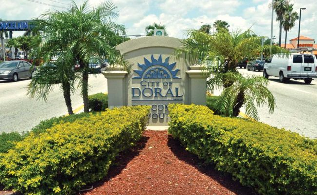 City of Doral sign